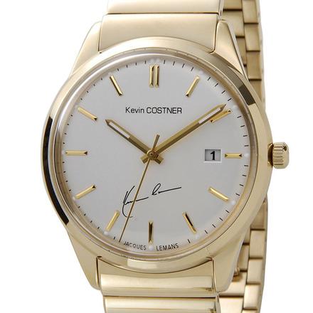 【新品】【送料無料】JACQUES LEMAN ジャックルマンケビンコスナー 腕時計 102E クオーツ メンズ レディス 時計