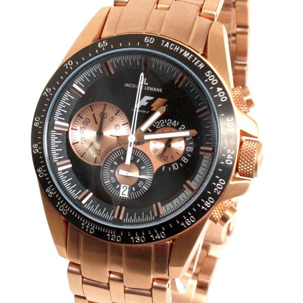 【新品】【送料無料】JACQUES LEMAN ジャックルマン 腕時計 F1モデル PF 5022H クロノグラフ メンズ  時計