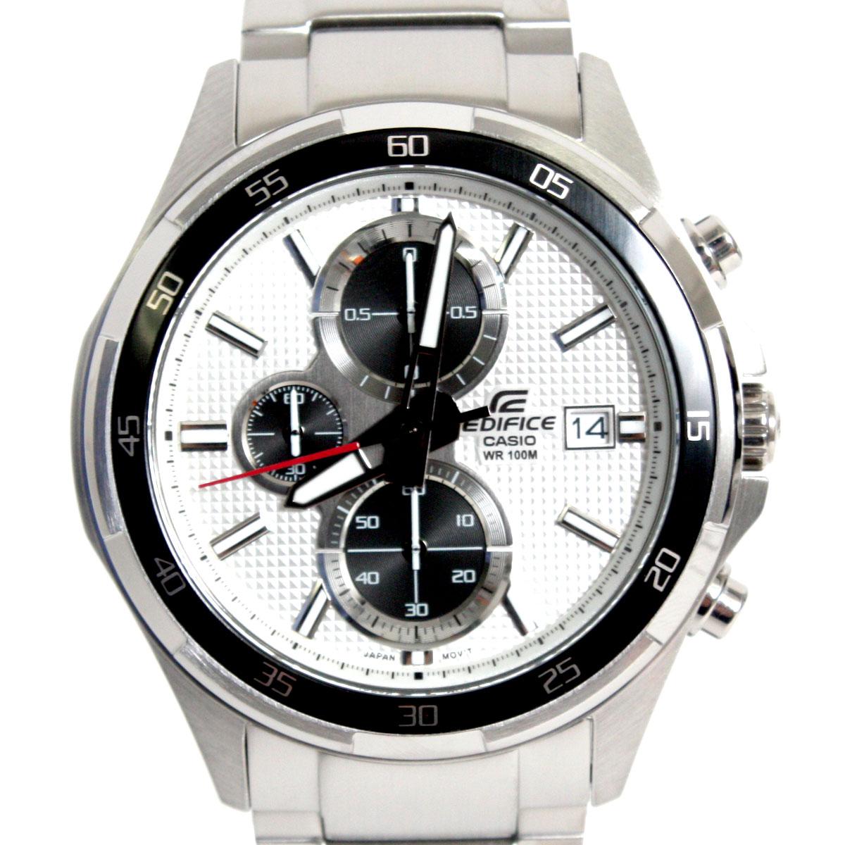 【送料無料】CASIO カシオ 腕時計 EFR-131D-7AVUDF EDIFICE エディフィス クロノグラフ ブラック/シルバー 海外モデル