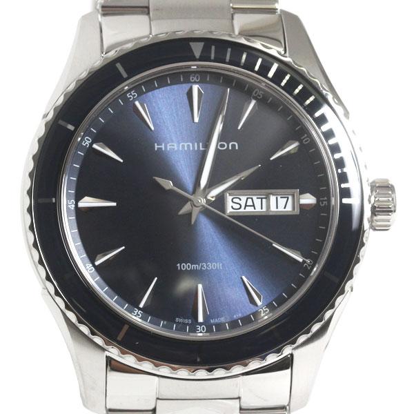【送料無料】HAMILTON ハミルトン 腕時計 JAZZMASTER SEAVIEW DAY DATE ジャズマスター シービューメンズ シルバー/ブラック文字盤 H37551141 メンズ 腕時計