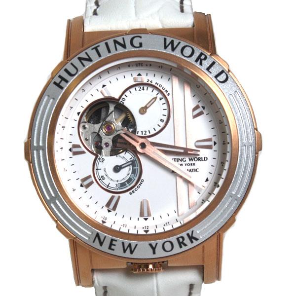 HUNTING WORLD ハンティングワールド 腕時計 自動巻き メンズ腕時計 ウォッチ ホワイト・ゴールド HW993WH