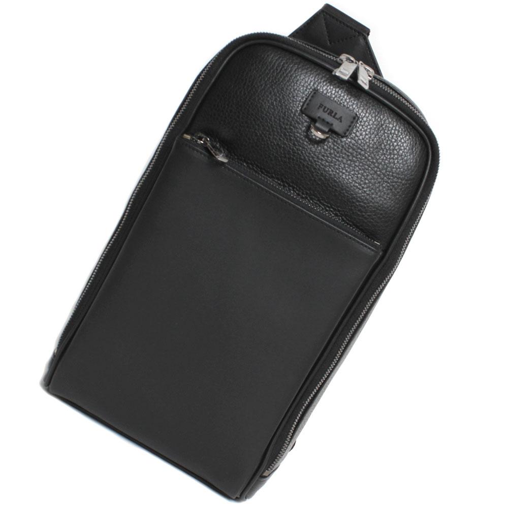 FURLA フルラ メンズ ULISSE スリングパック ボディーバッグ 1008208 B U399 Q27 MAN ULOSSE ONYX ブラック