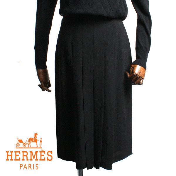 【送料無料】HERMES エルメス レディース シルクスカート NOIR(ブラック)