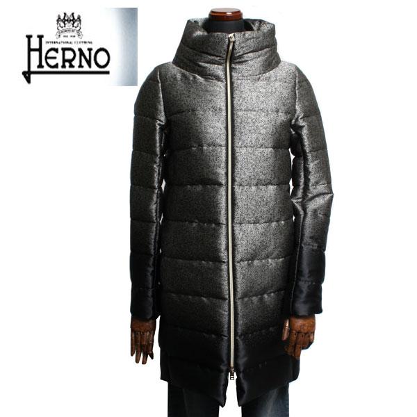 HERNO ヘルノ レディース ロング ダウンコート グラデーション PI0532D 13331 9310 シルバー ブラック