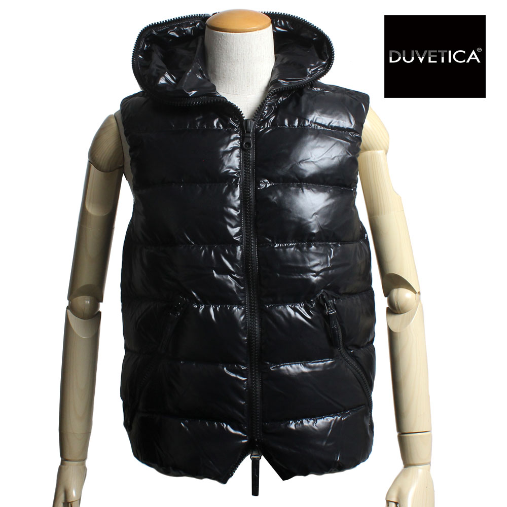 【2018NEW MODEL】 DUVETICA デュベティカ メンズ フード付き ダウンベスト ARISTEO アリステオ 182-U.2261N00-1035R 999ALL ALL BLACK オールブラック デュベチカ