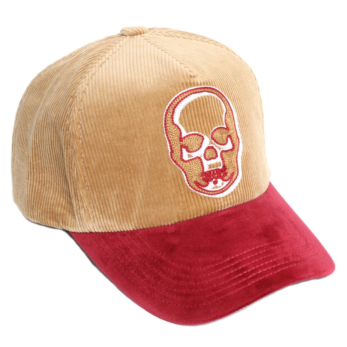 【送料無料】lucien pellat-finet ルシアンペラフィネ メンズ キャップ 帽子 CAP75 コーデュロイBEIGE/RED ベージュ/レッド