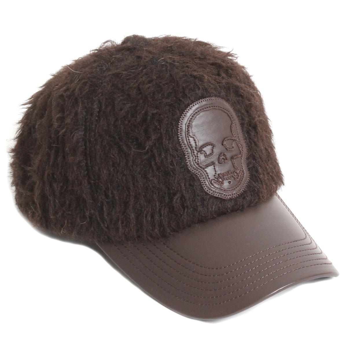 【送料無料】lucien pellat-finet ルシアンペラフィネ メンズ キャップ 帽子 CAP78 アルパカファー D.BROWN ダークブラウン スカル