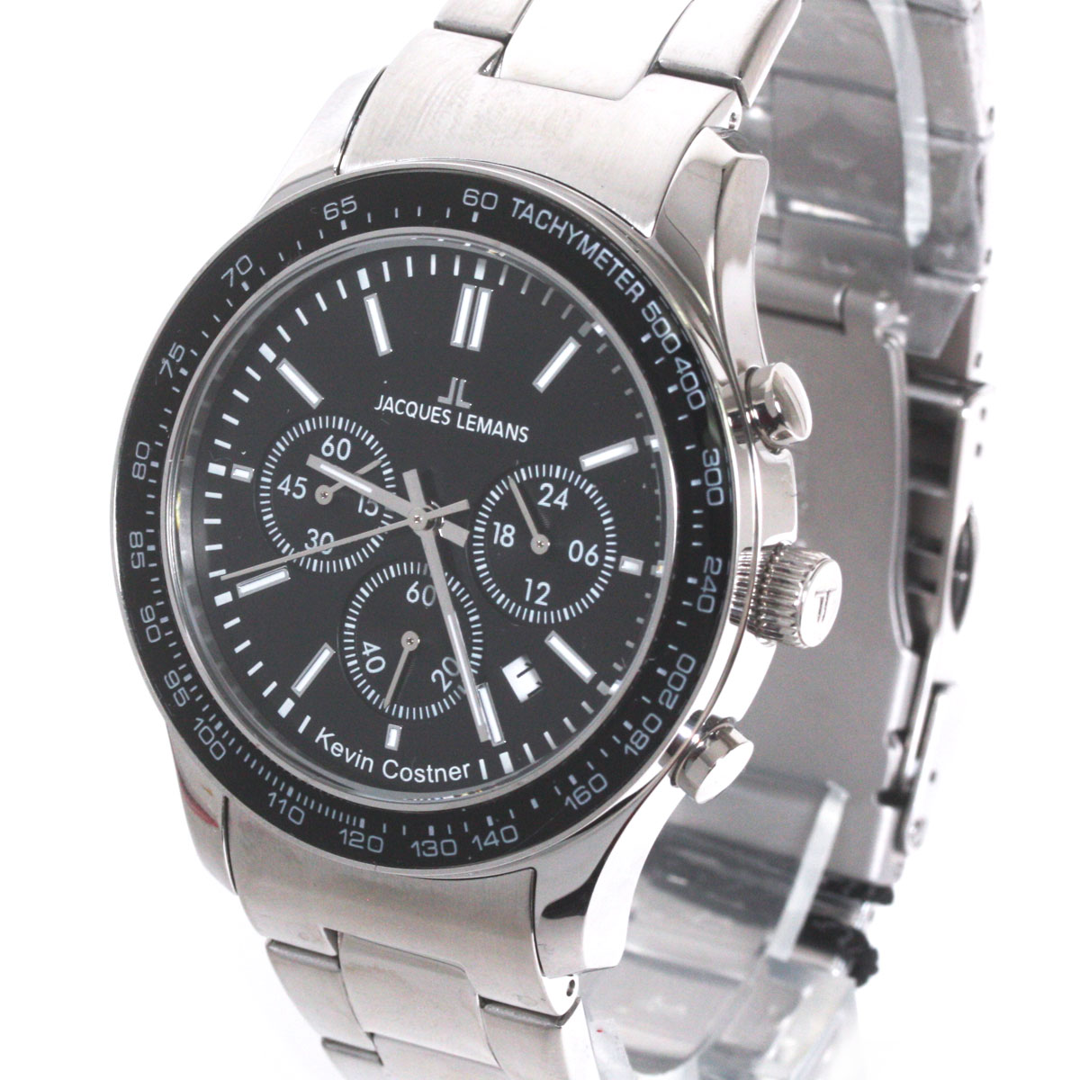 【新品】【送料無料】JACQUES LEMAN ジャックルマン 腕時計 11-1586-8 ケビンコスナー・コレクション クォーツ クロノグラフ デイト