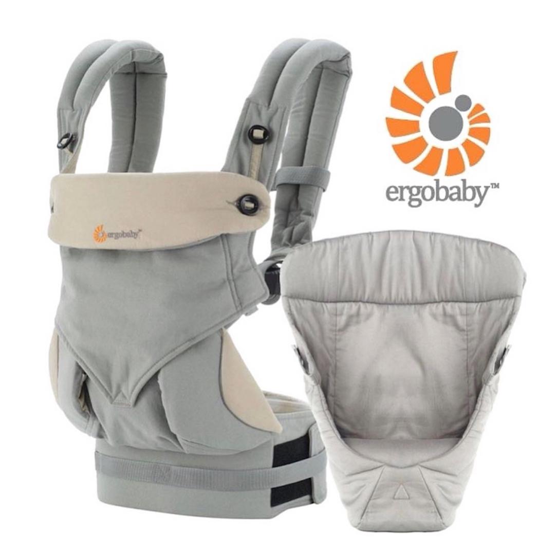 ergobaby エルゴベビー BCIIAGRYV3 インファント インサート付き 抱っこひも FOUR POSITION 360 おしゃれ BABY オンラインショッピング CARRIER グレー GREY スリーシックスティ 抱っこ紐 ベビーキャリア
