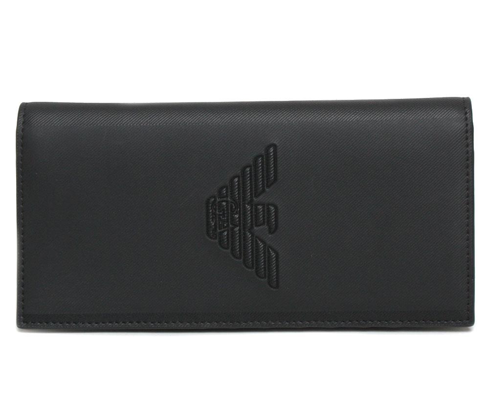 【送料無料】EMPORIO ARMANI エンポリオアルマーニ メンズ 長財布 Y4R170 YFE6J 81072 ブラック メンズ レディース ユニセックス