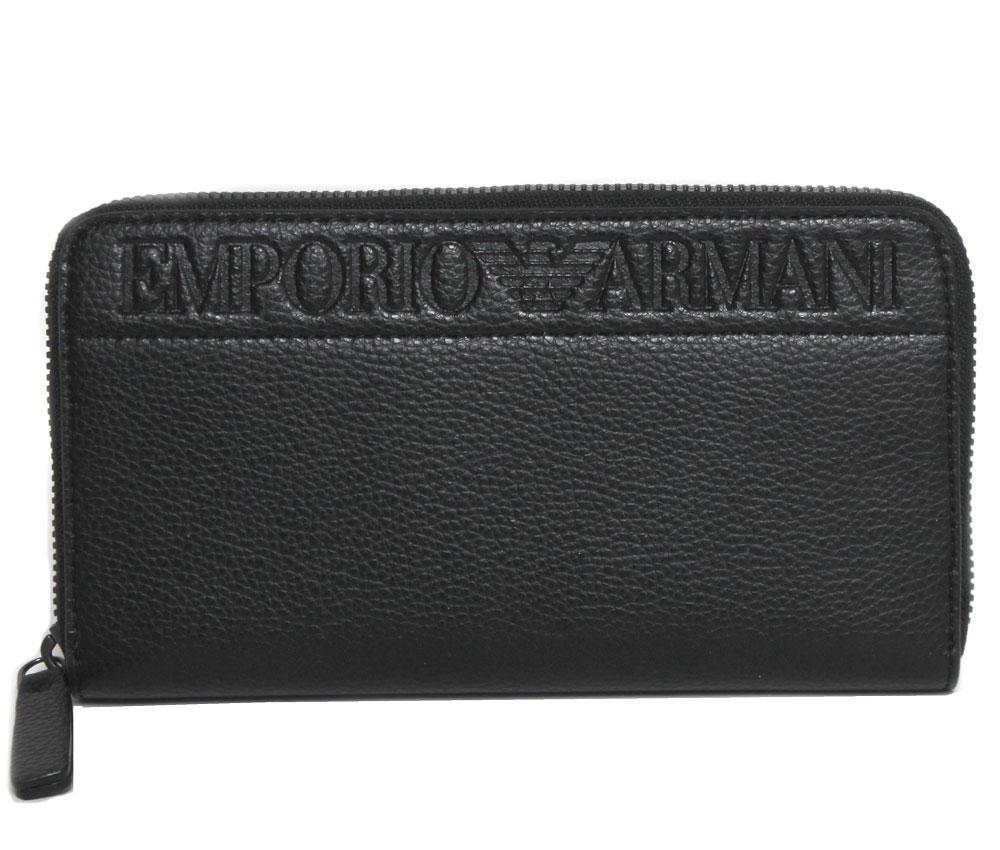 新品 EMPORIO ARMANI エンポリオアルマーニ ラウンドファスナー長財布 YEME49 YSL5J メンズ ユニセックス 81072 ブラック 送料無料 WEB限定 レディース お買い得