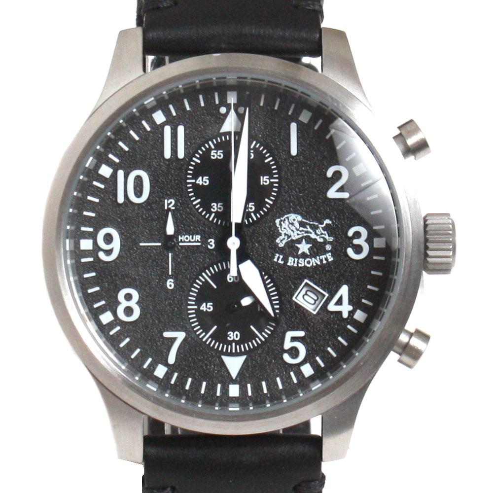 【新品】【送料無料】IL BISONTE イル ビゾンテ メンズ腕時計 クロノグラフ H0301 P2 135N