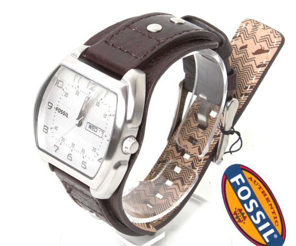 FOSSIL fossil watch dark brown square design JR1068