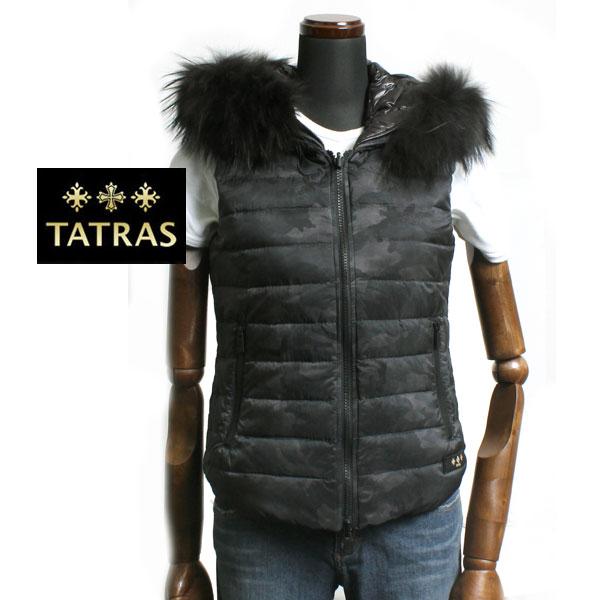 【送料無料】TATRAS タトラス  レディース ダウンベスト リバーシブル CELESTIALE LTA15A4401 GRAY グレー/ブラック