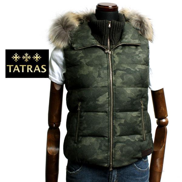 【送料無料】TATRAS タトラス レディース ダウンベスト AZZURRA LTA15A4423 CAMO KHAKI カモフラージュ カーキ