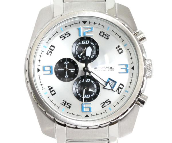 【送料無料】FOSSIL フォッシル 腕時計 シルバー/ブルー クロノグラフ CH2506
