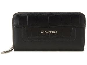 cromia クロミア ラウンドファスナー長財布 2640415SP-NE クロコ型押し イタリア製 BLACK ブラック