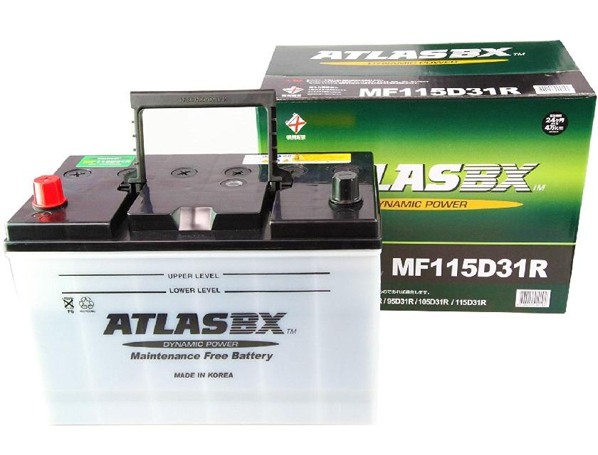 世界130カ国の信頼を持つATLASBX社が製造しております ギフ_包装 アトラス バッテリー 信頼 ATLAS 115D31R 自動車用