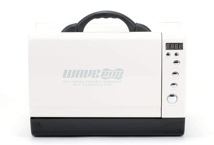 ポータブル 車載用 ウェーブボックス 電子レンジ WAVEBOX キャンプ・アウトドアでも使用可能!【白】