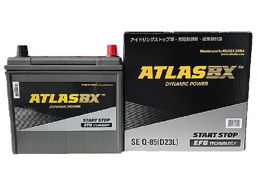 アトラス アイドリングストップ バッテリー SE Q-85(D23L)高性能 長寿命