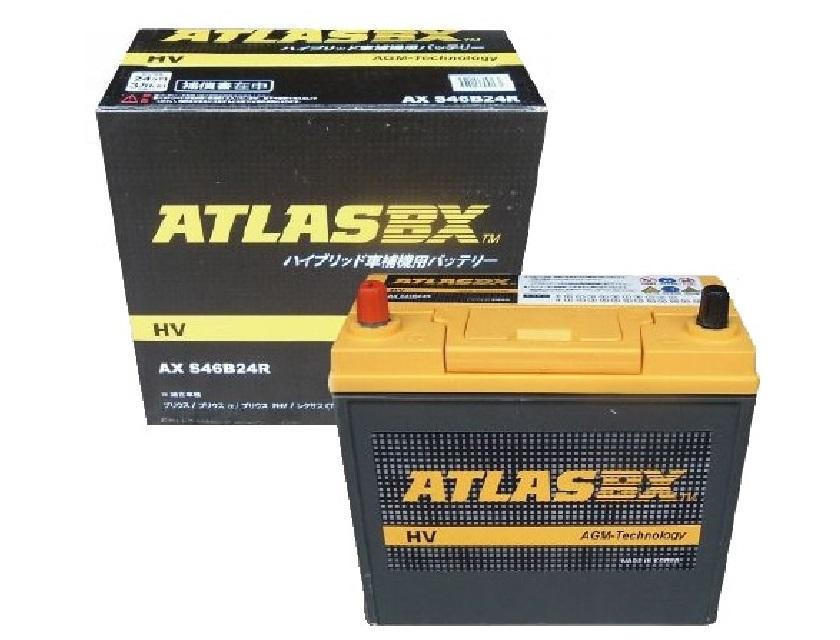 ATLASBX AX S46B24R HV アトラス ハイブリッド車用 補機バッテリー S46B24R