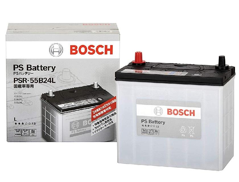 PS 入荷予定 バッテリー 液栓タイプメンテナンスフリーバッテリー BOSCH ボッシュ 国産車用 自動車バッテリー 充電制御車にも最適 PSR 55B24L 値引き