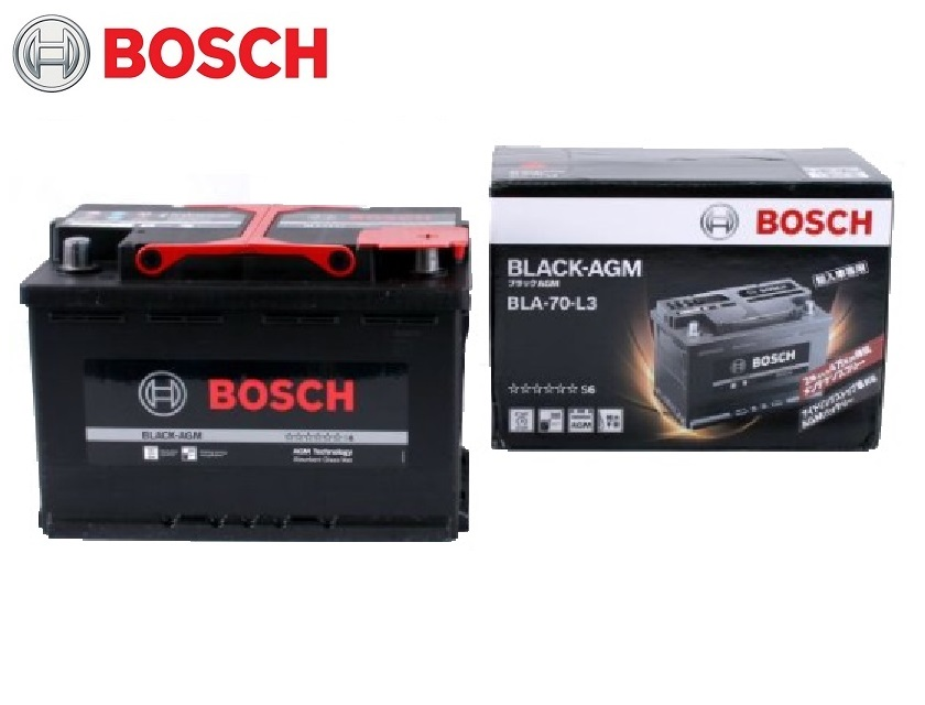 HT-70-PN モデルチェンジ型式 BLA-70-L3 BOSCH ボッシュ AGM 高性能バッテリー 新車 メーカー純正搭載品 自動車バッテリー
