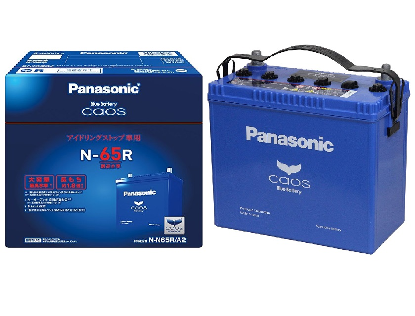 アイドリングストップ用 パナソニック panasonic カオス バッテリー N-N65R-A2 panasonic