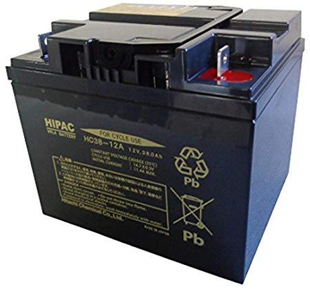 HC38-12 日立(新神戸) 小型制御弁式鉛蓄電池(サイクルバッテリー)適応 : スズキセニアカー