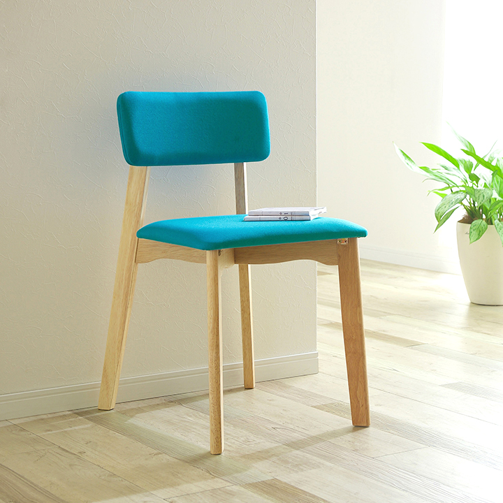 【割引クーポン配布中】ダイニングチェア Cocotte chair(ココット チェア) 2脚セット ジーンブルー/スカイブルー/ライトブラウン ダイニングチェアー チェア 椅子 ダイニング イス 木製 おしゃれ