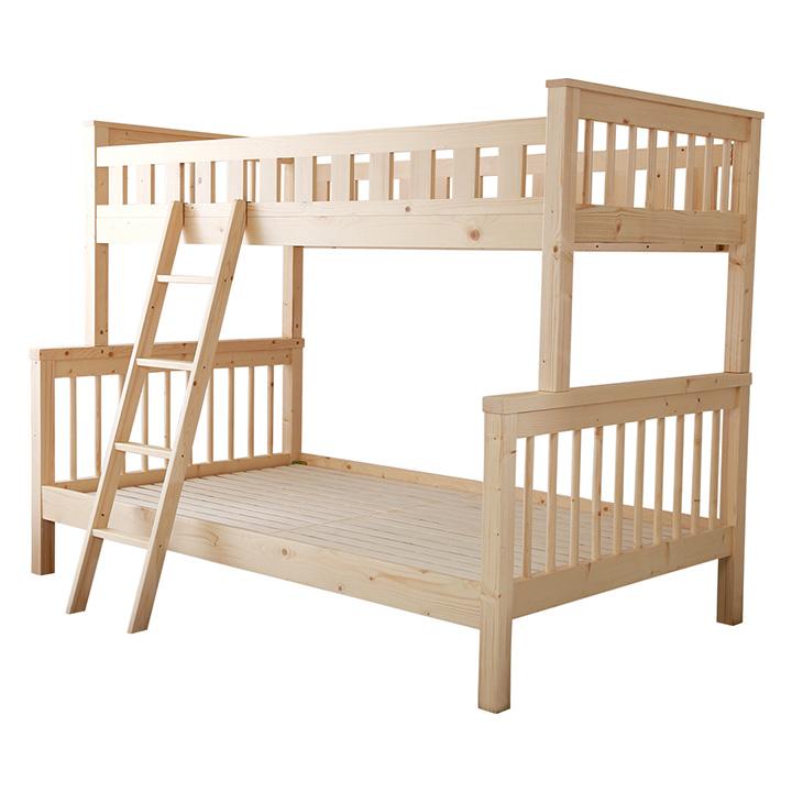 正規取扱店 上下サイズ違い 高級天然木パイン材使用 親子ベッド Quam クアム 二段ベッド <セール&特集> 大型 S 子供部屋 SD