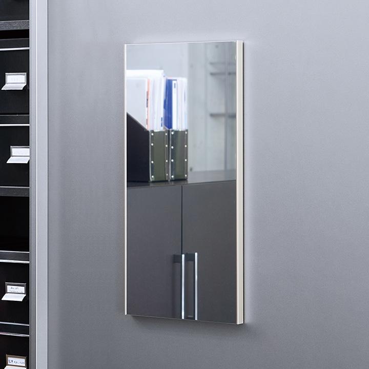 【日本製/軽量/割れないミラー】リフェクスミラー マグネットミラー W30×H60cm 4色展開 姿見 全身鏡 マグネットタイプ 壁掛け 壁掛けミラー 磁石 マグネット付きミラー ミラー 鏡