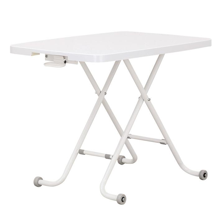 【昇降機能付き】 リビングテーブル LT CUTE(LTキュート) 90cm幅 ダイニングテーブル テーブル ダイニング テーブル 白 ホワイト シンプル リビング おしゃれ 折りたたみ 昇降式 昇降