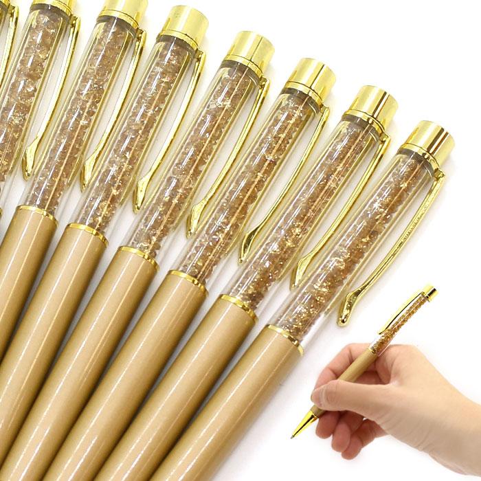 A Crystal Pen Crystalpen Glitter Ball Point Pen Crystal Glass Gold Golden Stylish Stylish Czech Crystal Petit Gift