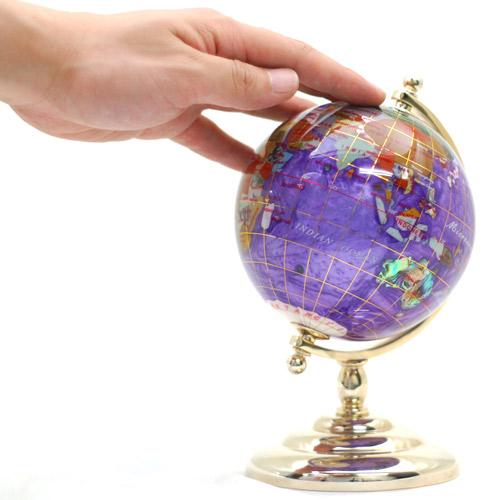 <11cmパール(1脚) 天然石地球儀>天然石を削って手作りしたピィアースの宝石地球儀 高級感のあるインテリアを贈答用に ギフト 卒業 入学 可愛い 誕生日プレゼント 女性 クリスマス 新生活 シューイチ 母の日