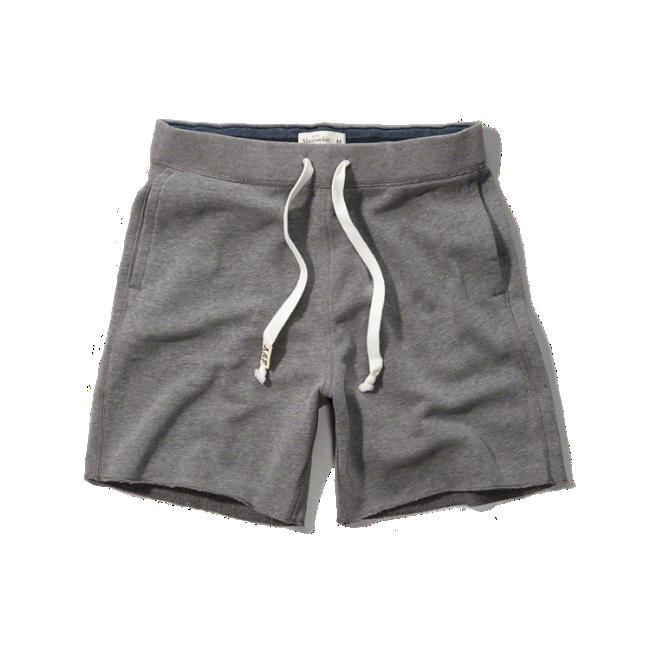 アバクロ/アバクロンビー&フィッチ(Abercrombie&Fitch)メンズ/S,Mストライプ・ポケット付フリース・ショーツ(ハーフ・スウェットパンツ)ヘザーグレーNo.5102