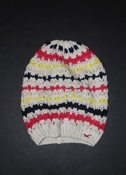 Hollister ホリスター 100%本物保証 在庫有り 即日発送 春の新作 新品 ビーニーキャップアイボリー レディースストライプ マルチNo.3556 ニット帽