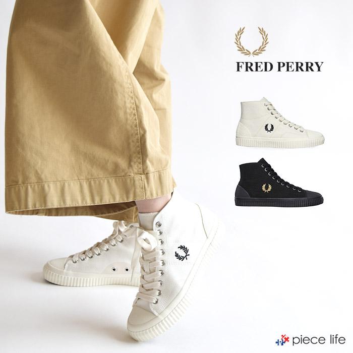 フレッドペリー FRED PERRY HUGHES MID CANVAS メンズ レディース スニーカー キャンバススニーカー ユニセックス B8110