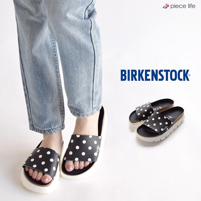 BIRKENSTOCK ビルケンシュトック Papilio CORA/コラ ブラック ホワイトドット WOMEN サンダル ドット 幅狭 ウィメンズ 1015901