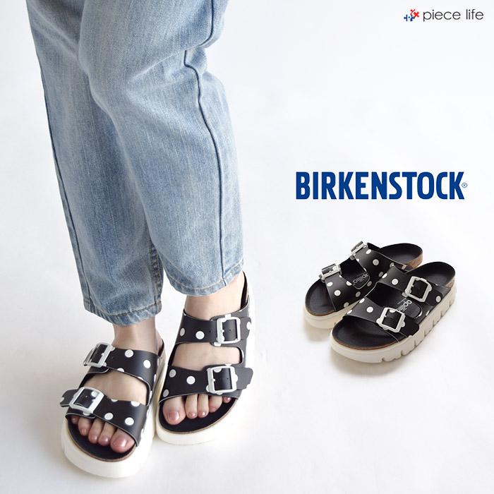 BIRKENSTOCK Papillio ARIZONA ついに再販開始 Chunky Black White Dots 1015906 10%OFF サンダル 黒 幅狭 ホワイト ビルケンシュトック ブラック 在庫一掃 ドット レディース