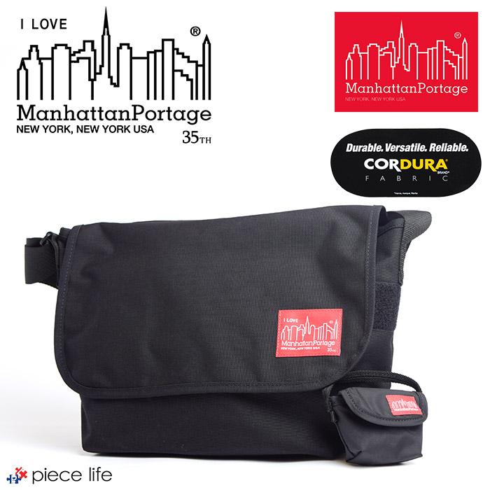 【送料無料】Manhattan Portage マンハッタンポーテージ 35TH ANNIVERSARY MODEL Casual Messenger Bag 35周年記念 カジュアル メッセンジャー バッグ (Mサイズ) / メンズ レディース ショルダーバッグ MP1606JR-35TH