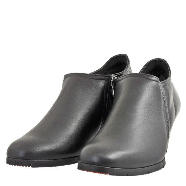 レディース 靴 ブーツ サロンドグレー ウェッジソール ブーティ ブラックコンビ 日本製 SLP33221BLC