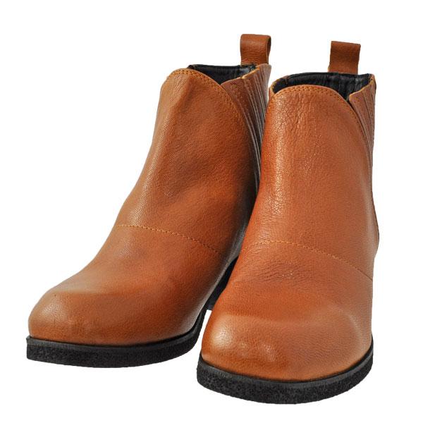 レディース 靴 ブーツ ユウコイマニシプラス チャンキーヒール きざみゴム サイドゴアブーツ ブラウン yuko797008BR
