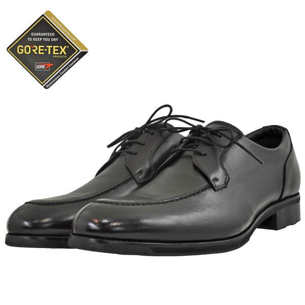 メンズ 靴 ビジネスシューズ アシックス Uチップ ゴアテックス 防水 オックスフォード ブラック WR612L90