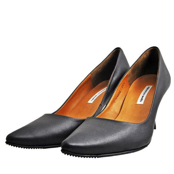 レディース 靴 パンプス 日本製 ラボキゴシ ワークス スコッチガード ポインテッドトゥ 全天候型 プレーンパンプス ブラック works5131-11335B
