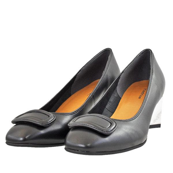 レディース 靴 パンプス マドラス 日本製 チャンキーヒール メタルヒール ブラック MAB7012BLA