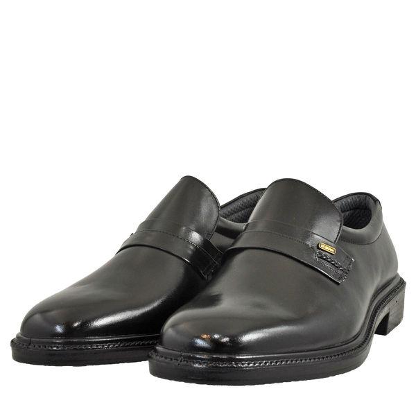 メンズ 靴 ビジネスシューズ ムーンスター プレーントゥ スリッポン 幅広 4E ブラック MB6020BLK