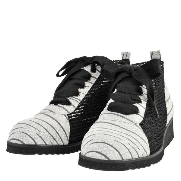 レディース 靴 カジュルシューズ プッティーローズ 日本製 ウェッジソール 3E ナイロンメッシュ チャッカブーツ アイスグレー PUTTIROSE860IGRY