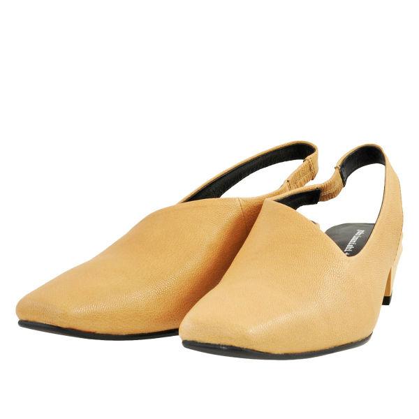 レディース 靴 パンプス ユウコイマニシプラス チャンキーヒール バックストラップパンプス キャメルコンビ yi793001CAMC