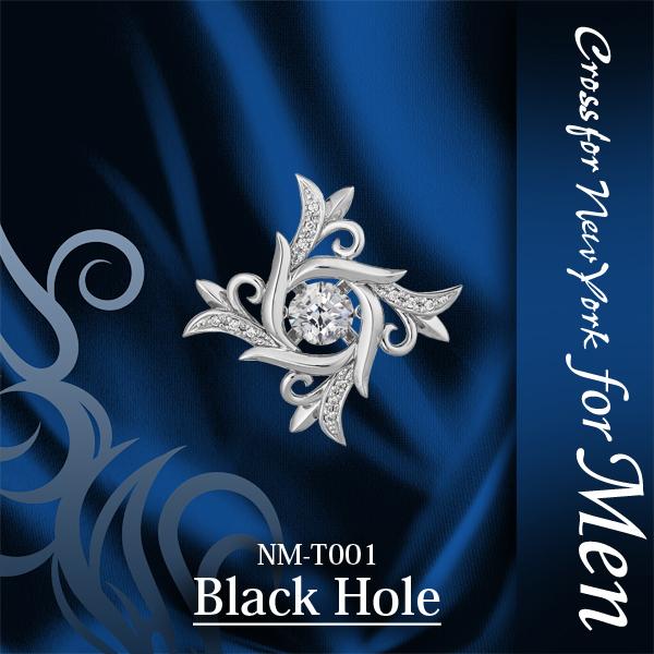 タイニーピン メンズ シルバー ネクタイピン タイピン クロスフォー Black Hole ダンシングストーン 箱付き 袋付き ブランドケース 送料無料 春夏 大人気